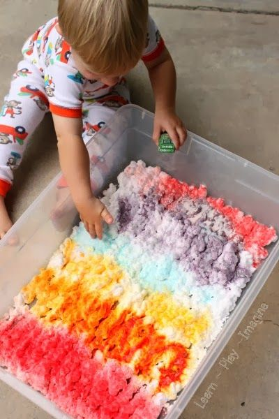 Kool Aid And Shaving Cream Sensory Play For Kids Kiddie