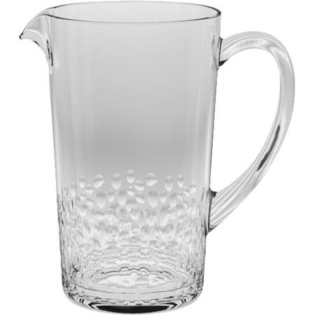crafted from acrylic for appeal this textured pitcher is perfect for the poolside bar