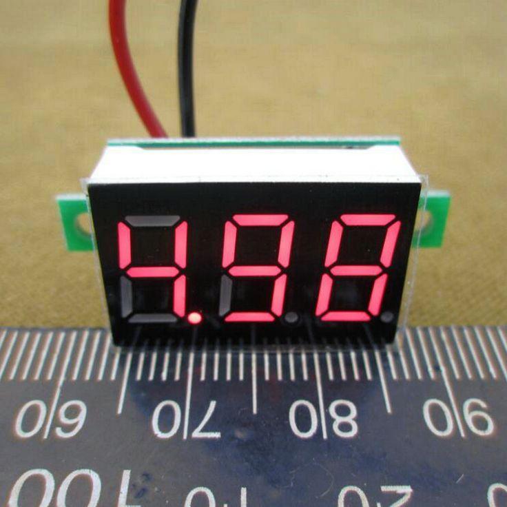 $0.85 (Buy here: https://alitems.com/g/1e8d114494ebda23ff8b16525dc3e8/?i=5&ulp=https%3A%2F%2Fwww.aliexpress.com%2Fitem%2F1PC-DC-2-5V-to-30V-Red-Digital-Voltmeter-Meter-Power-Monitor-2-5-30V-Digital%2F32522872219.html ) 1PCS  DC 4.5V to 30V Red Digital Voltmeter Meter Power Monitor 4.5-30V Digital DC Voltmeter Panel Meter   #0106 for just $0.85