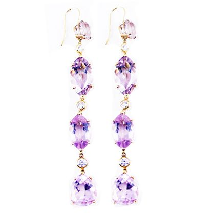 Gift the love of your life with these exquisite kunzite earrings by Hutton Wilkinson for Tony Duquette.  Special holiday pricing for LadyLUX readers.