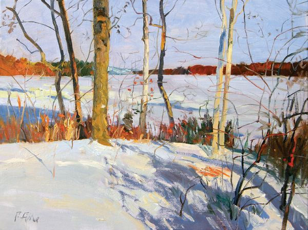 The Point, Late December 2004, oil on linen, 18 x 24. Private collection.