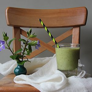 Immune Boosting Nutri-Juice by Nessa Robins. | With kale, avocado, apple & more - give yourself a nutritious boost.
