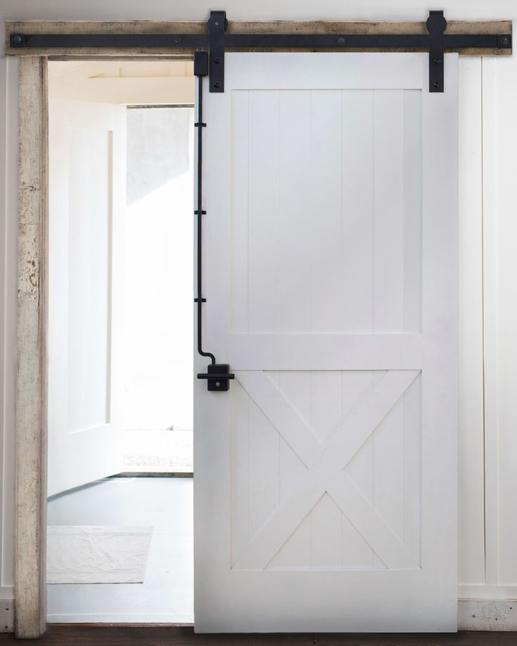 Sliding barn door lock system diy home things barn - Installing a lock on a bedroom door ...