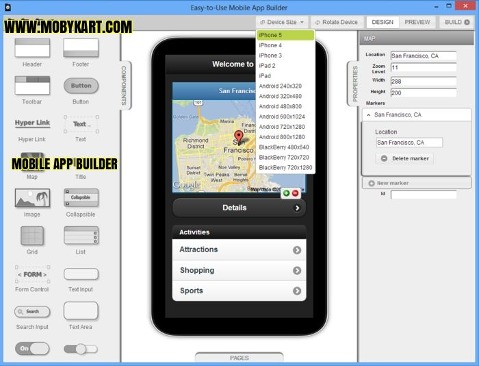 The online mobile application builder is an excellent alternative to get the job quickly. This type will program will save hiring a developer, designer, and related cost such as purchasing complex software. It is also common to build web apps to deliver content, products and service. http://www.mobykart.com