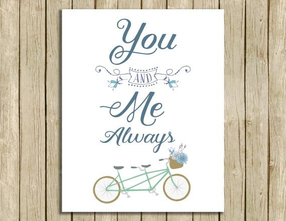 printable quote You and Me Always romantic wall by RowanTreePrints