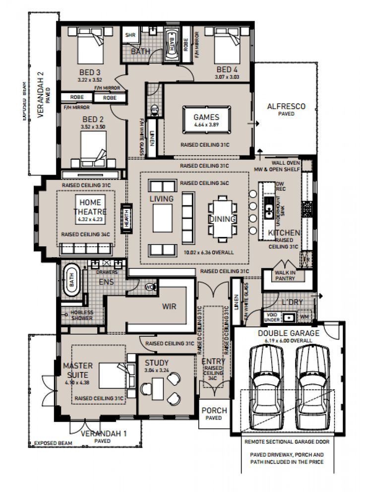 743 best house design images on pinterest floor plans home plants the chittering lodge display home by plunkett homes newhousing malvernweather Image collections