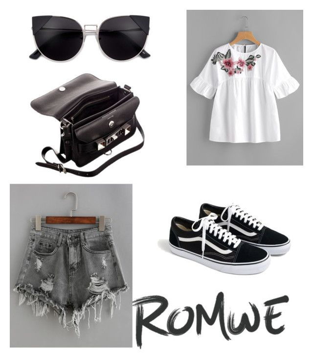 """romwe"" by geopaganeli on Polyvore featuring J.Crew and Proenza Schouler"