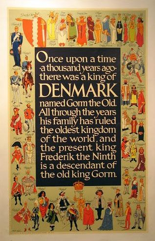 Denmark travel poster with a little history lesson.