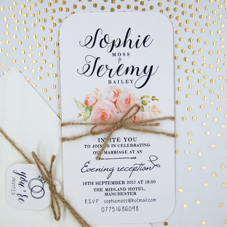 15 best Wedding Invitations, Day / Evening Cards images on Pinterest ...