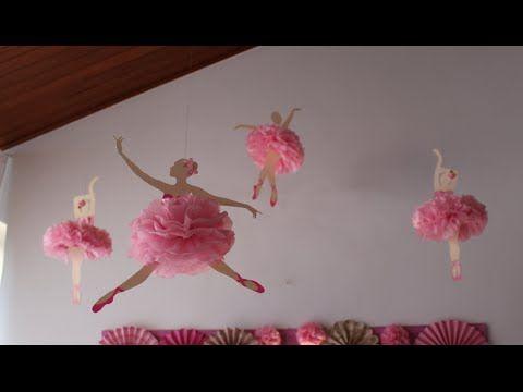 Bailarina de papel com pompom de seda - YouTube