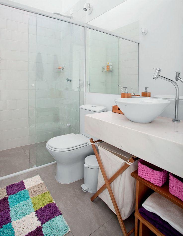 25+ melhores ideias sobre Cesto De Roupa Suja no Pinterest  Cestos de roupa  -> Decoracao Banheiro Cestos