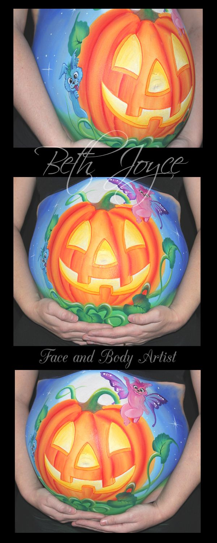 halloween belly painting baby shower idea halloween baby cute jack olantern