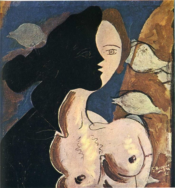 'Figure double with marine background' (1942) by French artist Georges Braque (1882-1963). Oil on canvas. source: wahoo art. via a long time alone