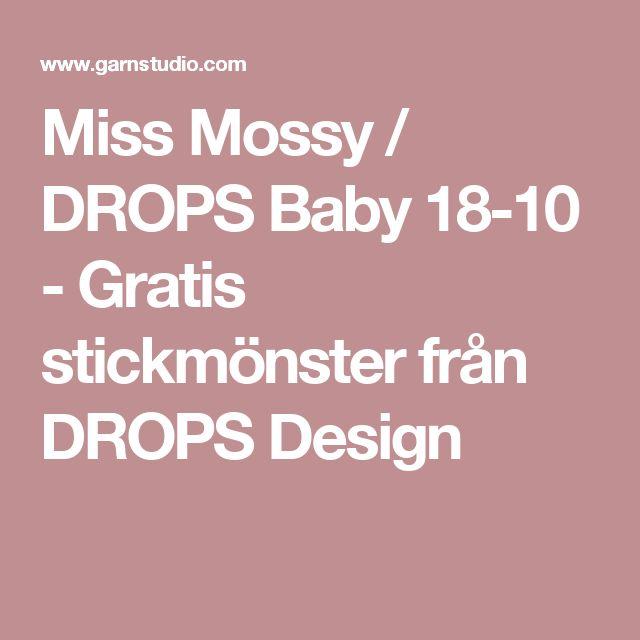 Miss Mossy / DROPS Baby 18-10 - Gratis stickmönster från DROPS Design