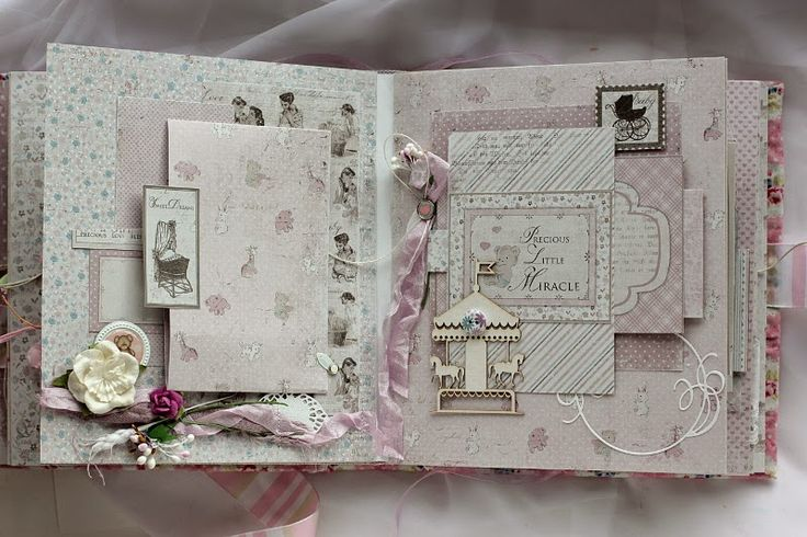 Hello friends, I've got one more album to share with you today. I made it for Maja Design blog using their new brand - Vintage Baby collect...