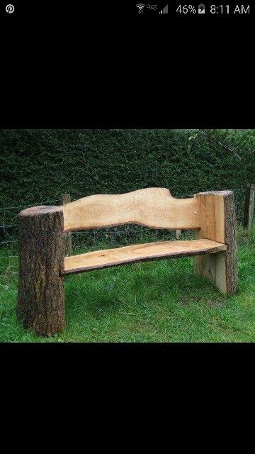 Log bench More. 526 best Log furniture 2 images on Pinterest   Log furniture