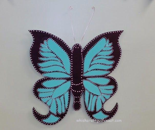 Painted wooden butterfly door hanger. & 96 best Butterfly Door Hangers images on Pinterest   Butterflies ...