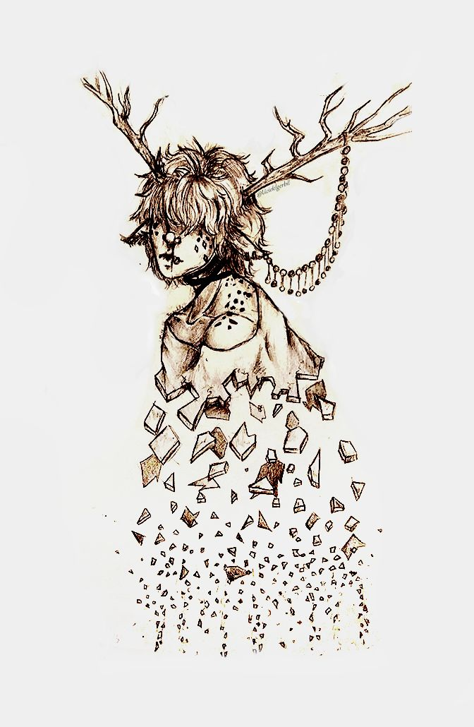 Idk, I like this one. #art #drawing #deer #boy #shattered #freckles