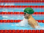 Ruta Meilutyte of Lithuania competes in the women's 100m Breaststroke