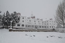 The Shining - The Stanley Hotel also hosted the horror novelist Stephen King, inspiring him to write The Shining. Contrary to information sometimes published, King was living in Boulder at the time and did not actually write the novel at the hotel. Parts of the mini-series version of The Shining were filmed there, although it was not used for Stanley Kubrick's cinematic version. The hotel and its surrounding lands are listed on the National Register of Historic Places.[3]