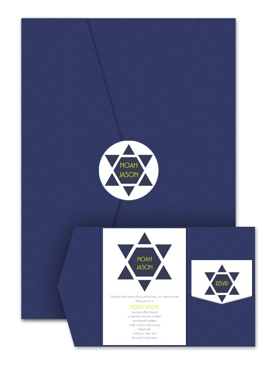 This is the company I used to make Joshua's Bar Mitzvah invitations.  I would have loved to use these:  #MyPerfectParty   Bright Future Pocket - Bar Mitzvah Invitations by Invitation Consultants. (Item # IC-RLP-SRSPK-23 )