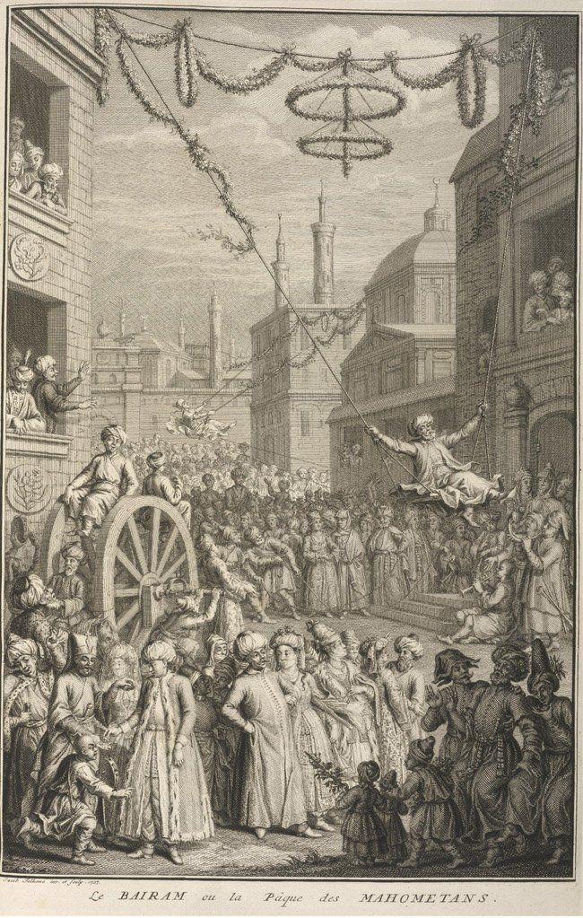 Swing at the Streets of Istanbul During the Eid, 17th Century (Osmanlı Bayramlarının Olmazsa Olmazı Salıncaklar)