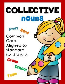 COLLECTIVE NOUNS! COLLECTIVE NOUNS! COLLECTIVE NOUNS!Common Core aligned to :CCSS.ELA-LITERACY.L.2.1.AUse collective nouns (e.g., group).***download the animated GIF to see what you'll be purchasing!***Check out REFLEXIVE PRONOUNS! Here.REFLEXIVE PRONOUNS!