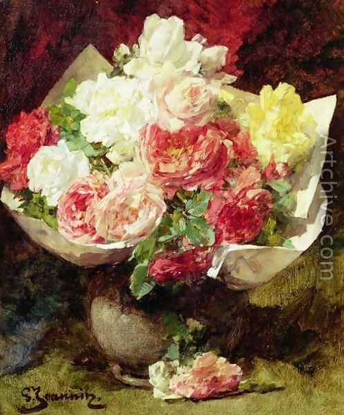 Flowers in a Vase - Georges Jeannin