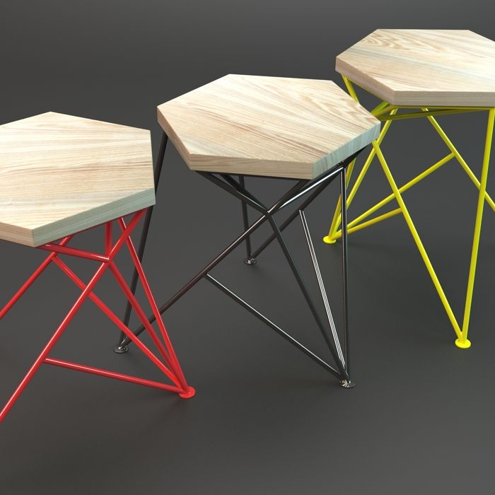 Selección Butacos  geometric stools | adamchristopherdesign.co.uk