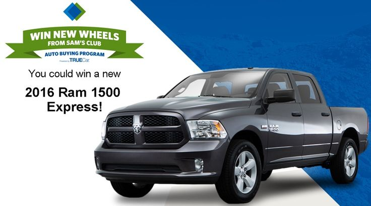 Enroll into The Sam's Club March Car Giveaway Sweepstakes for a chance to win a 2016 Dodge Ram 1500 Express!                             #Giveaways, #Car, #Big