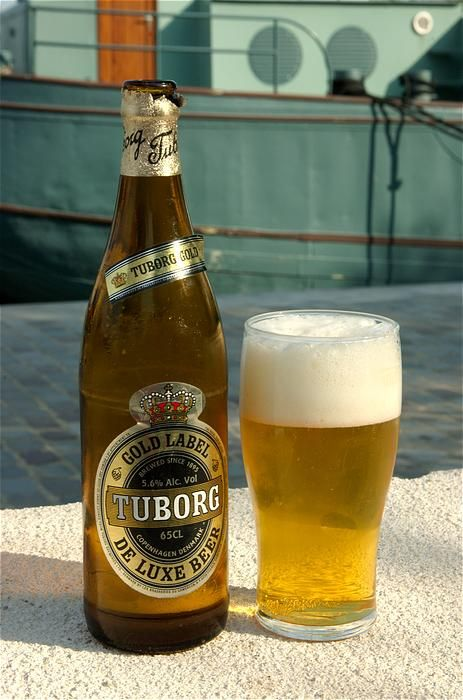 Denmark - Tuborg beer.  Sherry's grandfather used to serve this to us.  It helped chase the aquavit.   Lord help us all.