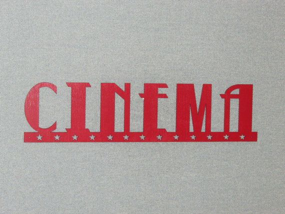 24 grand cinéma rouge mur Word avec signe de Stars par Motorheadart