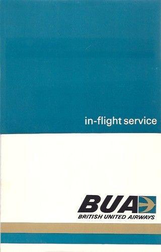 British United Airways in Flight Service Brochure