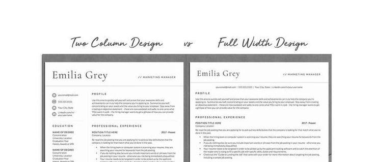 Best resume format for 2020 two column or full width