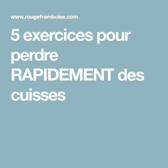 5 exercices Pour Perdre Des Cuisses RAPIDEMENT   Perdre ...