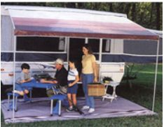 Dometic Trim Line Bag Awning 7' Maroon 944NV07.002 provides quick relief from the hot afternoon sun. Stores neatly on your pop up trailer.