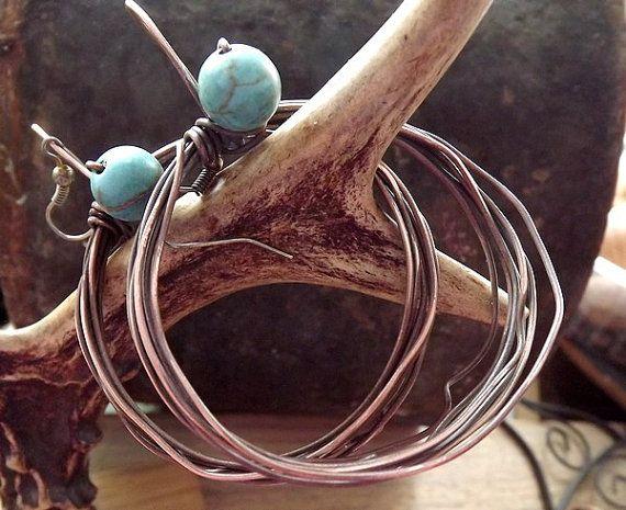 Jewelry. Earrings. Copper jewelry. Copper earrings. Boho