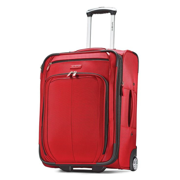 Samsonite Hyperspin 21-Inch Wheeled Carry-On Luggage, Red