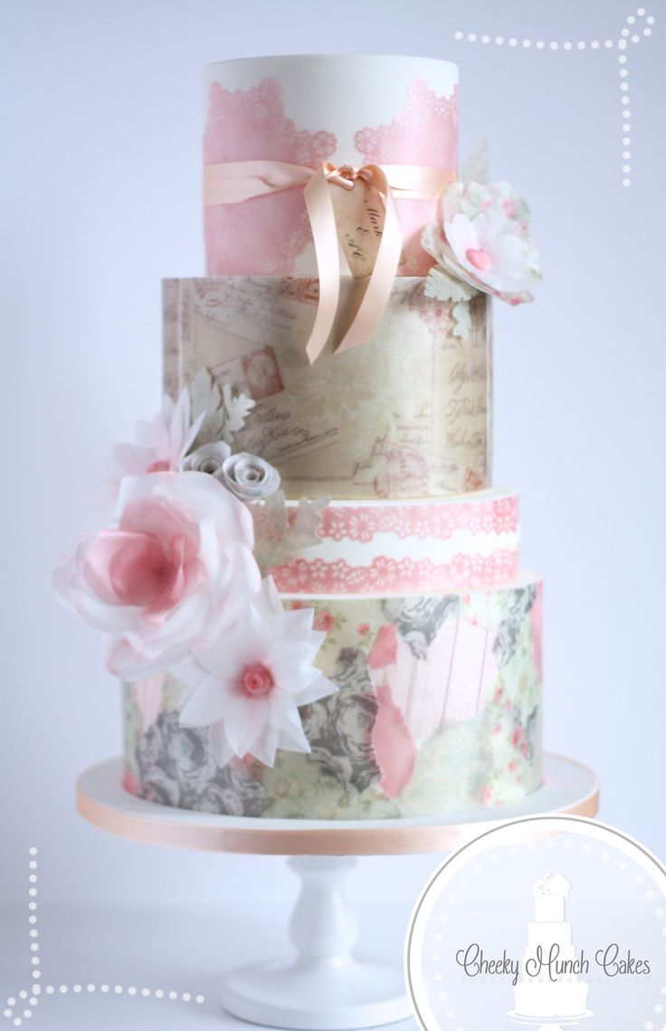 Vintage Wafer Paper Cake My take on Hey there, Cupcake!'s...