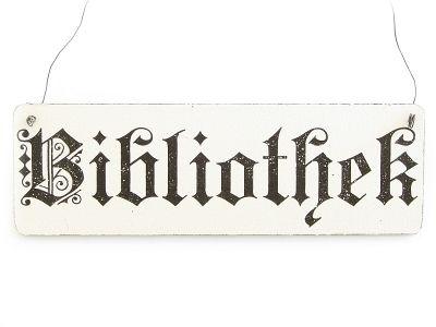 Vintage German library sign