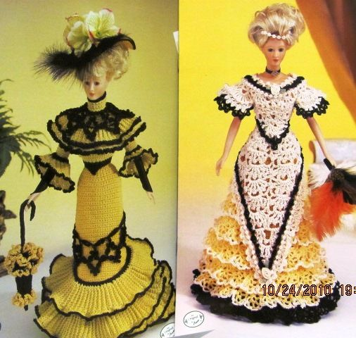Crochet Pattern Central Barbie Clothes : 358 best images about crochet dolls on Pinterest ...