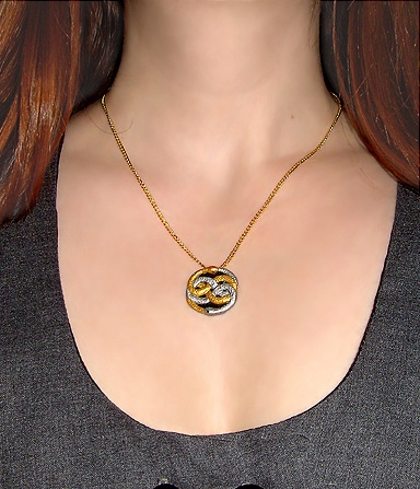 Neverending story 71 pinterest mini neverending story auryn pendant and gold chain necklace mozeypictures Choice Image