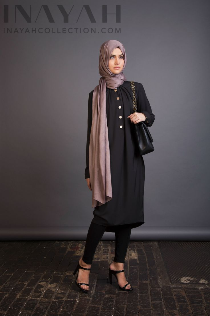A must have classic black tunic dress www.inayahcollection.com #inayah#shirtdresses