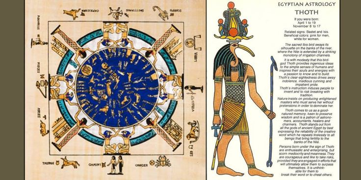 """Just like the normal zodiac, the Egyptian zodiac is also made up of 12 signs, and there are different days of the year represented by each of the signs. Each of the sign in the Egyptian astrology is symbolized by an Egyptian God that is believed to help and guide you. The ancient Egyptians believed that your life and your personality can be determined by the sign you were born under. Here""""s explaining them in detail. The Nile (January 1-7, June 19-28, September 1-7, November 18-26) This ..."""