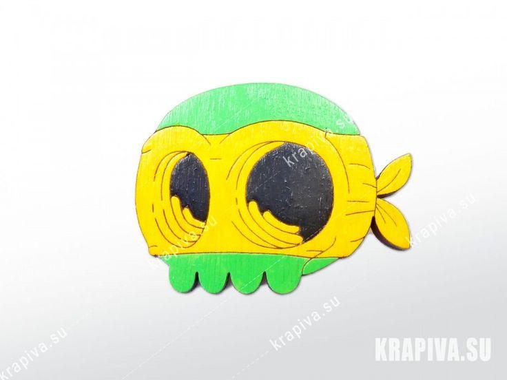 Черепушка ниндзя, значок, значки, брошь, деревянный значок, значок из дерева, деревянная брошь, ручная работа, череп, handmade, brooch, pin, scull