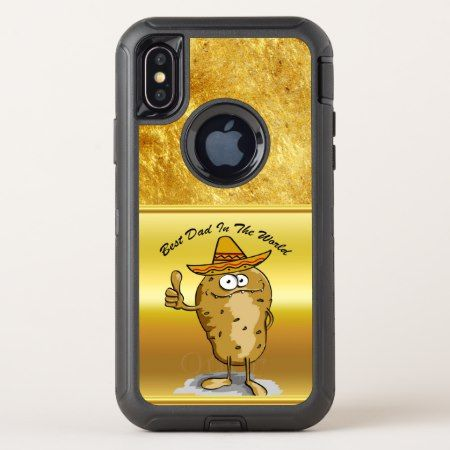 Mexican sombrero hats potato character OtterBox defender iPhone x case - click/tap to personalize and buy. #iPhonex #otterbox #protective #cute
