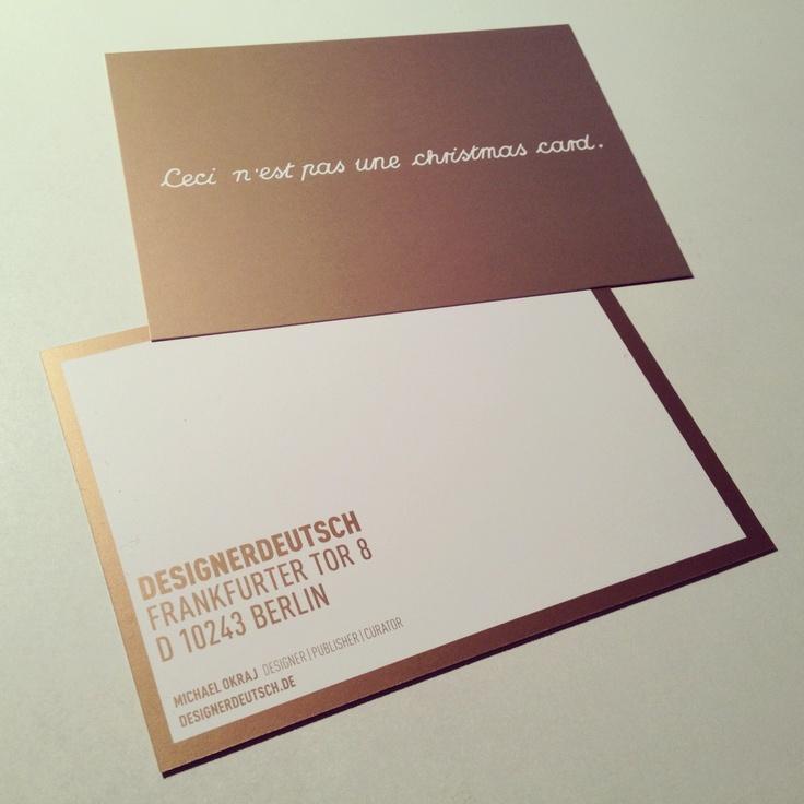 365-days-christmas card by DESIGNERDEUTSCH — © Michael Okraj DESIGNERDEUTSCH