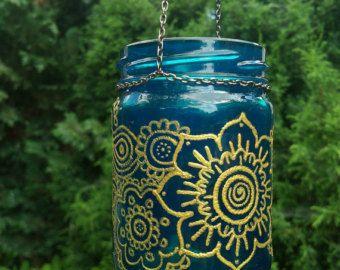 COLGANTE farol colgante vela ligera del té por MagicFeatherShop