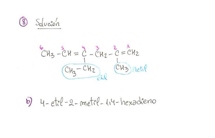 Ejercicio resuelto 08, formulación orgánica de Alquenos. Ejercicio de múltiple opción.