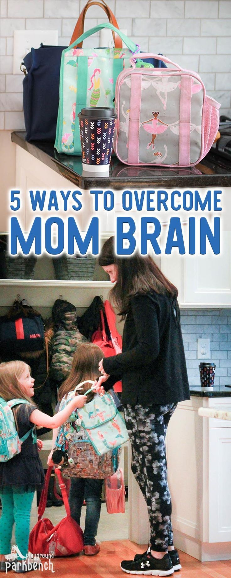 Has the mental load of motherhood left you in a daze? You can overcome it with a few simple lifestyle changes to help you organize and consolidate the chaos. | Mom Life | Organize Me #momlife #mombrain #parenting via @playgroundpb